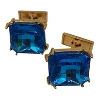 Cerulean glass cufflinks