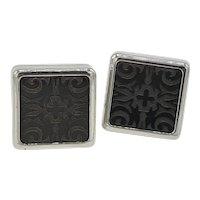 Etched Black Onyx cufflinks