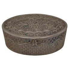 Victorian Silver Plate Pill Box
