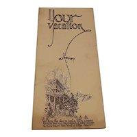 """Pamphlet- """"Your Vacation"""" Estes Park"""