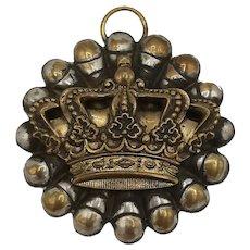 Crown Medalion Pendant