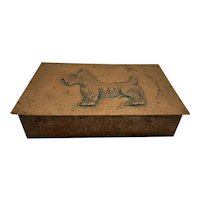 Copper Covered Wood Cigar Box