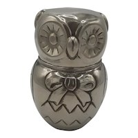 Owl Silverplate Coin Bank