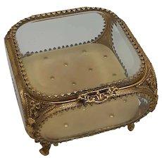 French Beveled Glass Trinket Box