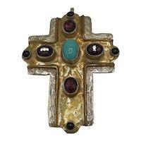 Silver and Semiprecious Stone Cross