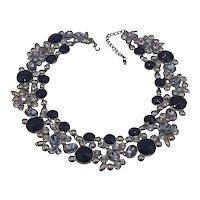 Large Rhrinstone Necklace-Collar