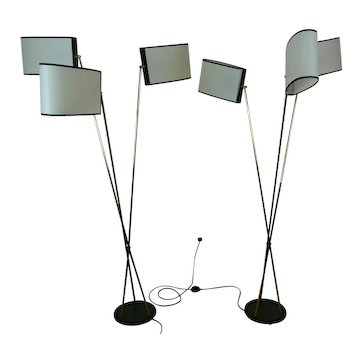 Pair of 3-Light Floor Lamps by Maison Lunel