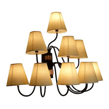 """1950s Large """"Bouquet"""" Sconce with Ten-Lighted Arms"""