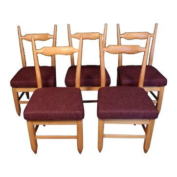 Set of Eight Chairs by Guillerme et Chambron