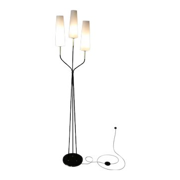 1950s Floor Lamp with Three Lighted Arms by Maison Lunel