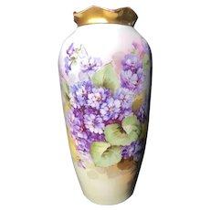 Austrian Vase with Purple Flowers