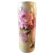 Belleek Vase with Soft Pink Roses