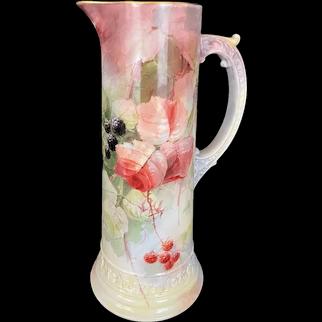 American Belleek Tankard Vase with Berries