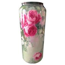 Belleek Vase with Roses