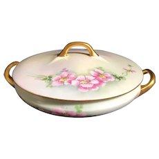 Vintage Favorite Bavaria Covered Casserole serving Dish with Roses