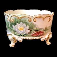 Hand-Painted Limoges France Ferner/Planter/Vase Artist Signed and Dated