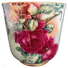 Antiques Limoges Planter With Roses