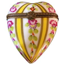 Hand-Painted Heart Limoges France Box Artist Signed
