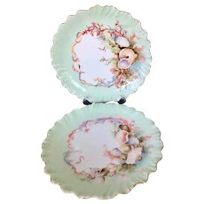 "Set of Two Shell Limoges France 9"" Plates"
