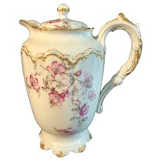 Lovely Vintage Haviland Limoges Hand-Painted Chocolate Pot