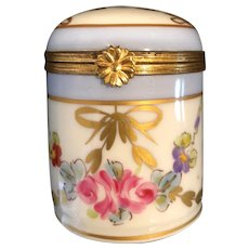 Vintage Limoges France Porcelain Box Artist Signed with Roses.
