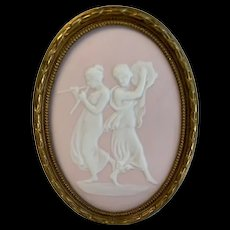 Limoges pate sur pate plaque made by Camille Tharaud Limoges France