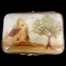Vintage Country Scene Limoges Box Signed by Artist
