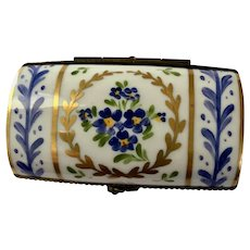 Limoges Hand-painted Rectangular Trinket Box
