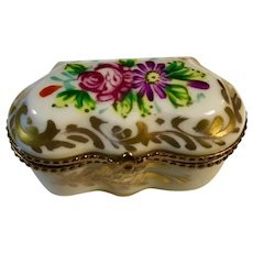 Limoges Hand-Painted Porcelain Box