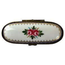 Limoges Trinket Box with Two Roses