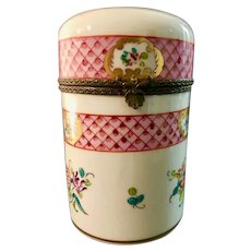 Limoges Hand-Painted Trinket Box