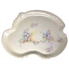 Limoges Tray with Tiny Pink Roses