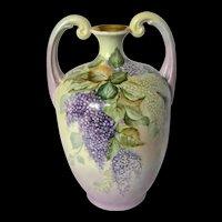 """13"""" Limoges France Violet Muscle Vase"""