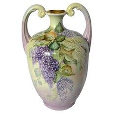Limoges Violet Muscle Vase