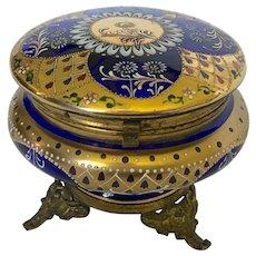 Moser Cobalt Blue Powder Bowl