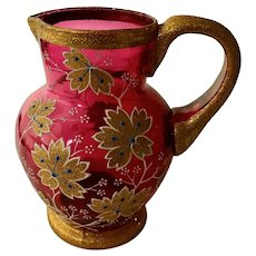 Small Moser Cranberry Pitcher