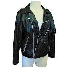 Vintage Guess Black Leather Jacket