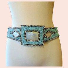 Vintage Hand Beaded North African Hip Belt