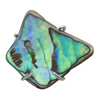 Paua and Sterling Silver Ring