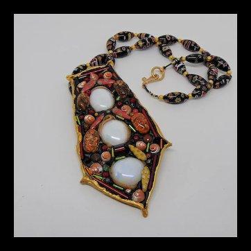 Pendant on Millefiori Necklace