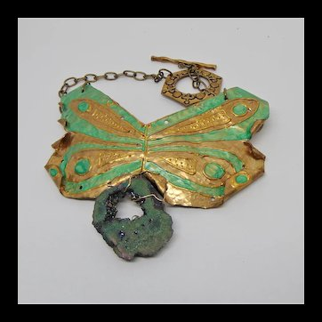 Painted Metal Work Necklace