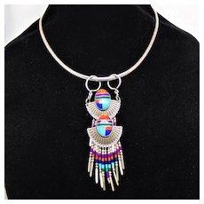 Pendant Necklace of Repurposed Vintage Earrings