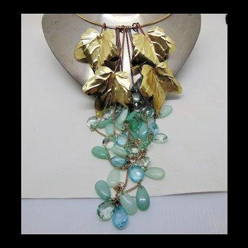 Aqua Cascade Necklace