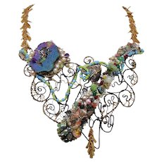 "Multi Media ""Drama"" Bib Necklace"