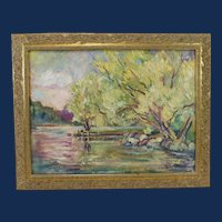 Judith Beringer Hraniotis, Lake View Oil Painting