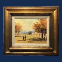 James Lawson Balfour, Couple Walking in the Fall Oil Painting