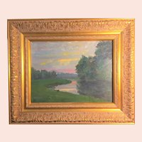Bert Geer Phillips, River Bend oil painting