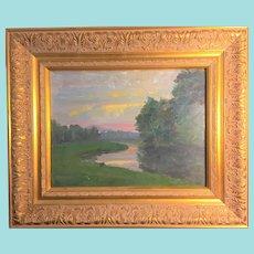 Bert Geer Phillips, River Bend oil painting