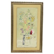 Sterling Strauser, Small Abstract Floral Still Life, Oil Painting