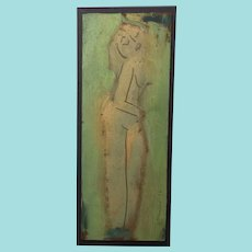 Sterling Strauser, Oil Portrait, Abstract Nude Woman